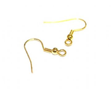 100pcs x Gold fish earring hooks 20MM - C7003122